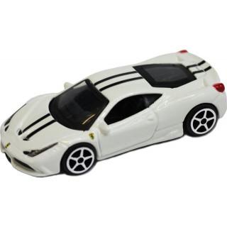 Bburago Ferrari 458 Italia Speciale 1:64 bílá