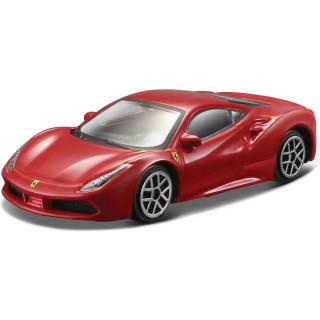 Bburago Ferrari 488 GTB 1:64 červená