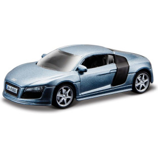 Bburago Audi R8 1:64 šedá metalíza