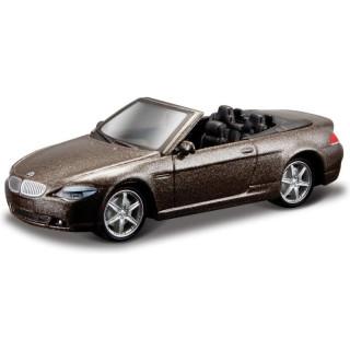 Bburago BMW 645 Ci Cabrio 1:64 hnědá metalíza