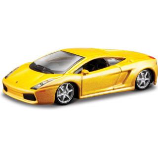 Bburago Lamborghini Gallardo 1:64 žlutá metalíza