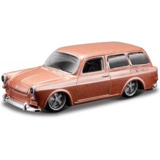 Bburago Volkswagen 1600 1:64 starorůžová metalíza
