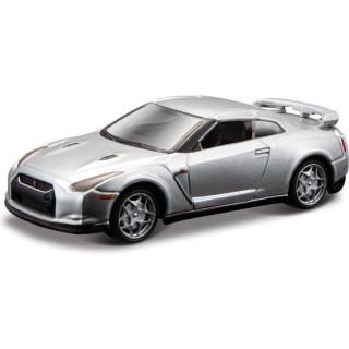 Bburago Nissan GT-R (R35) 1:64 stříbrná
