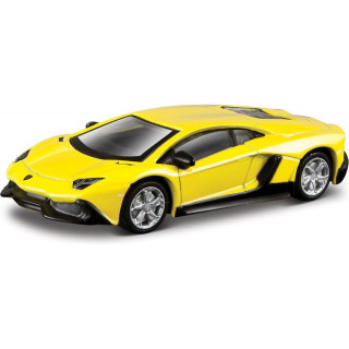 Bburago Lamborghini Aventador LP 700-4 1:64 žlutá metalíza