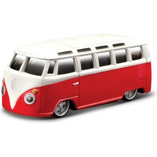 Bburago Volkswagen Van Samba 1:64 červená