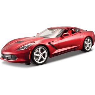 Bburago 2014 Corvette Stingray 1:64 červená metalíza