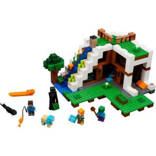 LEGO Minecraft - Základna ve vodopádu