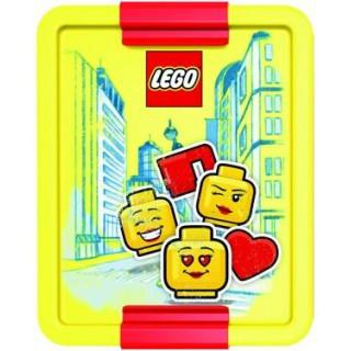 LEGO ICONIC Girl box na svačinu 170x135x69mm - červený