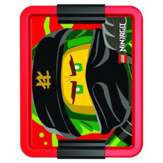 LEGO Ninjago box na svačinu 170x135x69mm - červený