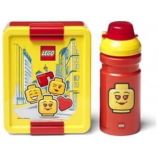 LEGO ICONIC Girl svačinový set - červený