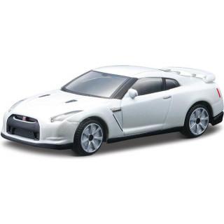 Bburago 2009 Nissan GT-R R35 1:43 perleťově bílá metalíza