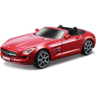 Bburago Mercedes-Benz SLS AMG Roadster 1:43 červená metalíza