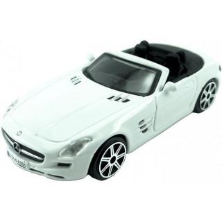 Bburago Mercedes-Benz SLS AMG Roadster 1:43 bílá