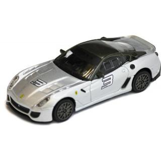 Bburago Ferrari 599xx 1:43 stříbrná metalíza