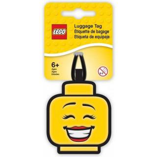 LEGO Iconic Jmenovka na zavazadlo - Hlava dívky