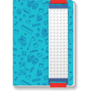 LEGO zápisník A5 s LEGO páskem modrý