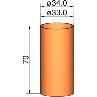 Klima Spojka 35mm trubek pr. 34mm x 70mm