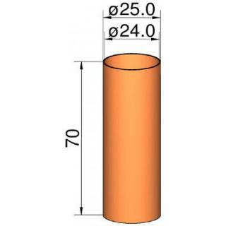 Klima Spojka 26mm trubek pr. 24mm x 70mm