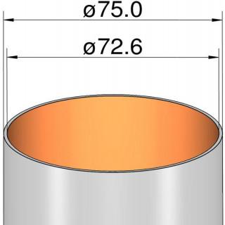 Klima Papírová trubka 75mm / 500mm