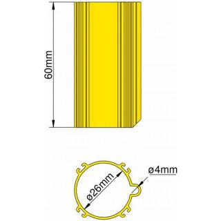 Klima Základna 26mm 4-stabilizátory žlutá
