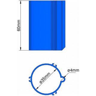 Klima Základna 35mm pro 3-stabilizátory modrá