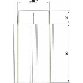 Klima Základna 50mm 4-stabilizátory bílá