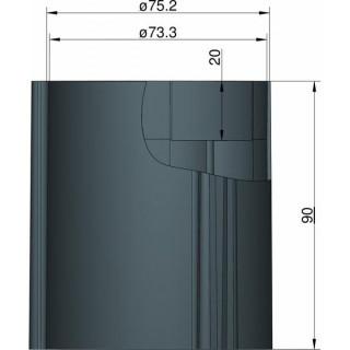 Klima Základna 75mm 3-stabilizátory černá