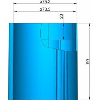 Klima Základna 75mm 3-stabilizátory modrá