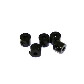 2 mm.alu stavěcí kroužky černé (5 ks.)