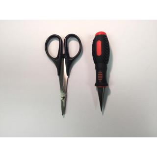 Výstružník na karosérie a nůžky na lexan zahnuté
