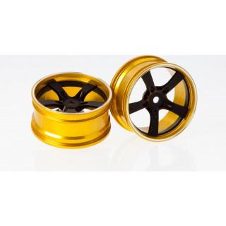 Killerbody Camaro 2011 1:10 - hliníkové disky kol černé (2)