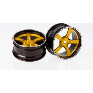 Killerbody Camaro 2011 1:10 - hliníkové disky kol zlaté (2)