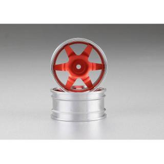 Killerbody Alfa Romeo 155 GTA 1:10 - hliníkové disky kol červené