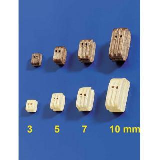 Krick Blok lanoví dvojitý světlý 7mm (10)