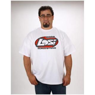 Losi - triko krátký rukáv Worlds Team bílé XL