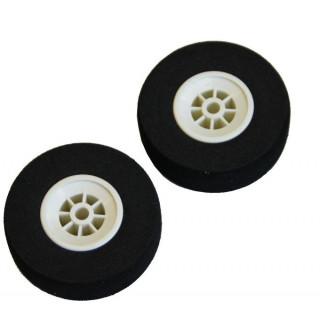 Mechové podvozkové kolo ploché 45mm (2)