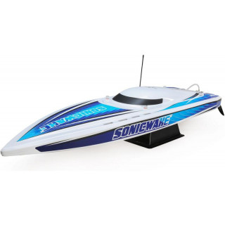 "Proboat Sonicwake 36"" Self-Right Deep-V BL RTR bílý"