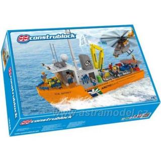 Construblock - Výzkumná loď s vrtulníkem