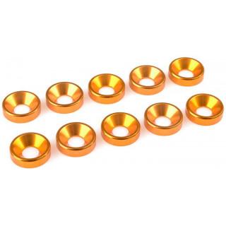 Corally podložka pod zap. šroub M5 12mm hliník zlatá (10)