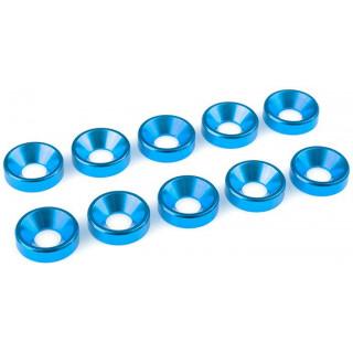 Corally podložka pod zap. šroub M5 12mm hliník modrá (10)
