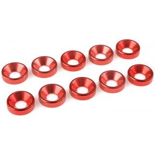 Corally podložka pod zap. šroub M5 12mm hliník červená (10)