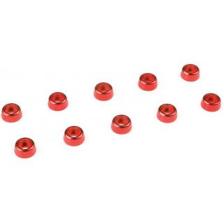 Corally podložka pod vál. šroub M2 6mm hliník červená (10)