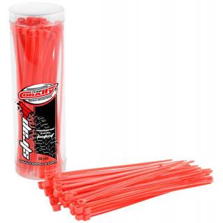 Corally stahovací pásek 2.5x100mm červený (50)