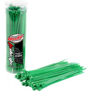 Corally stahovací pásek 2.5x100mm zelený (50)