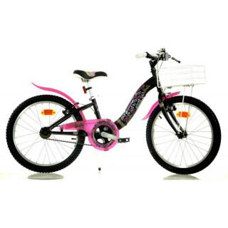 """DINO Bikes - Dětské kolo 20"""" Barbie s košíkem"""