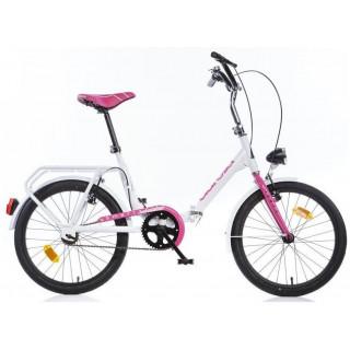 """DINO Bikes - Dětské kolo 20"""" Aurelia skládací růžové"""