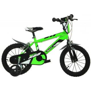 """DINO Bikes - Dětské kolo 14"""" zelené"""