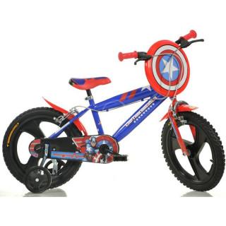 "DINO Bikes - Dětské kolo 14"" Kapitán Amerika"