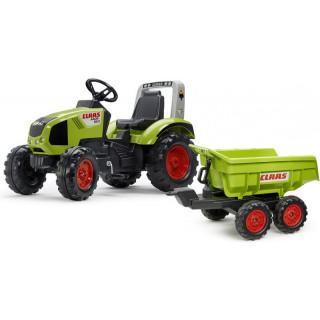 FALK - Šlapací traktor Claas Axos 330 s maxi vlečkou