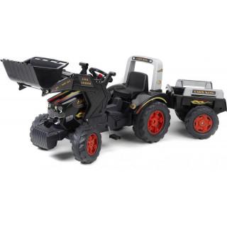 FALK - Šlapací traktor Farm King s nakladačem a vlečkou